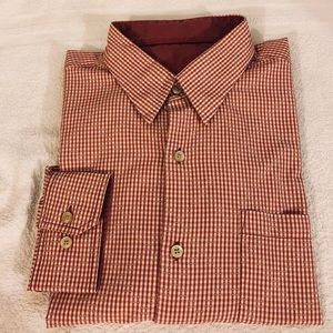 Tommy Bahama Red & White Gingham Shirt XL